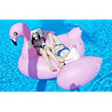 Zhen Qi Flamenco hinchable Inflable Pool Float Giant tamaño gigante para la piscina o playa flotador