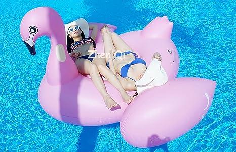 Zhen Qi Flamenco hinchable Inflable Pool Float Giant tamaño ...