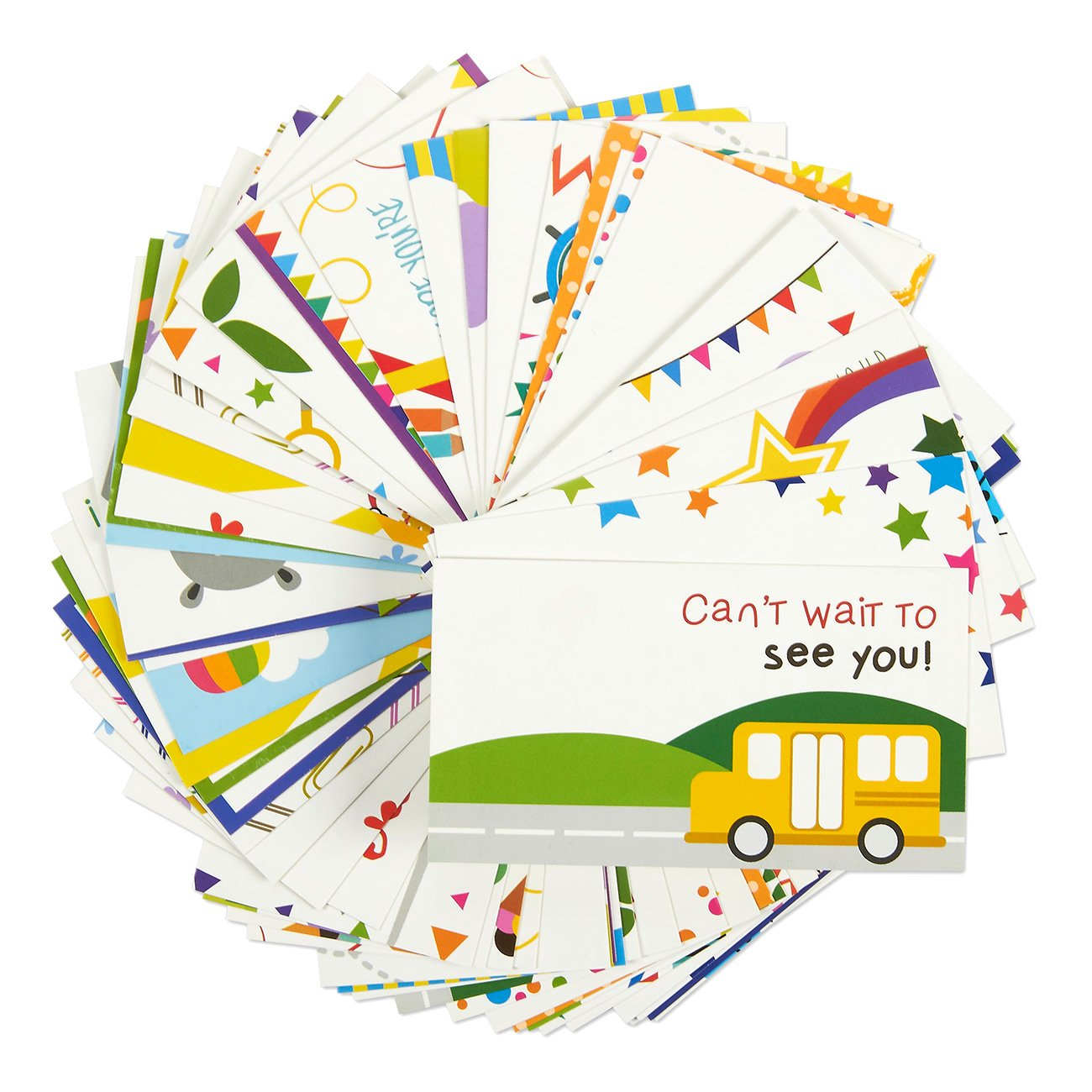 juvale pack of 60 lunch box notes colorful inspirational and