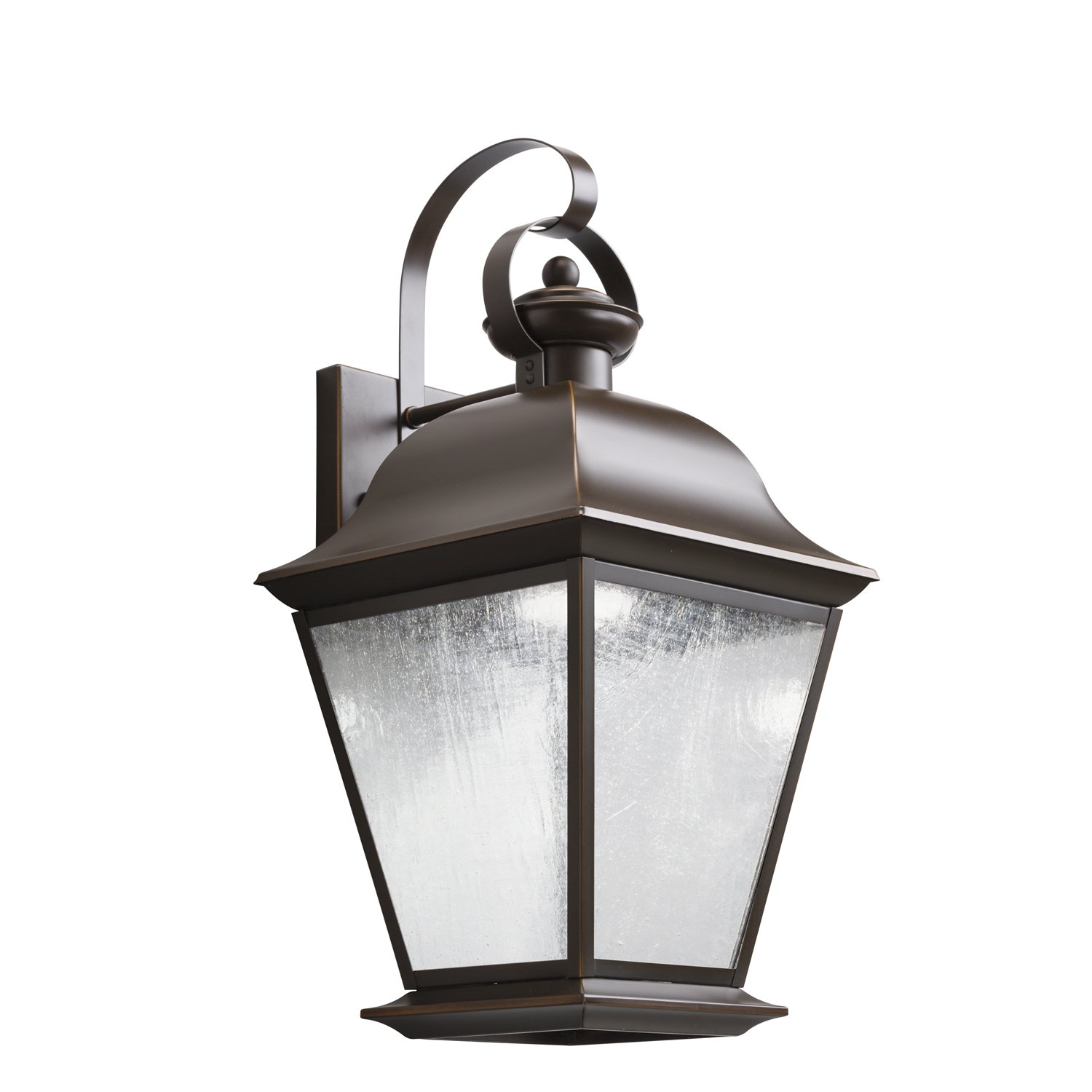 Outdoor led wall lantern olde bronze wall porch lights amazon com - Kichler Lighting 9709ozled Mount Vernon 20in 10w 3000k Led Exterior Wall Lantern Olde Bronze Finish With Etched Seedy Glass Amazon Com