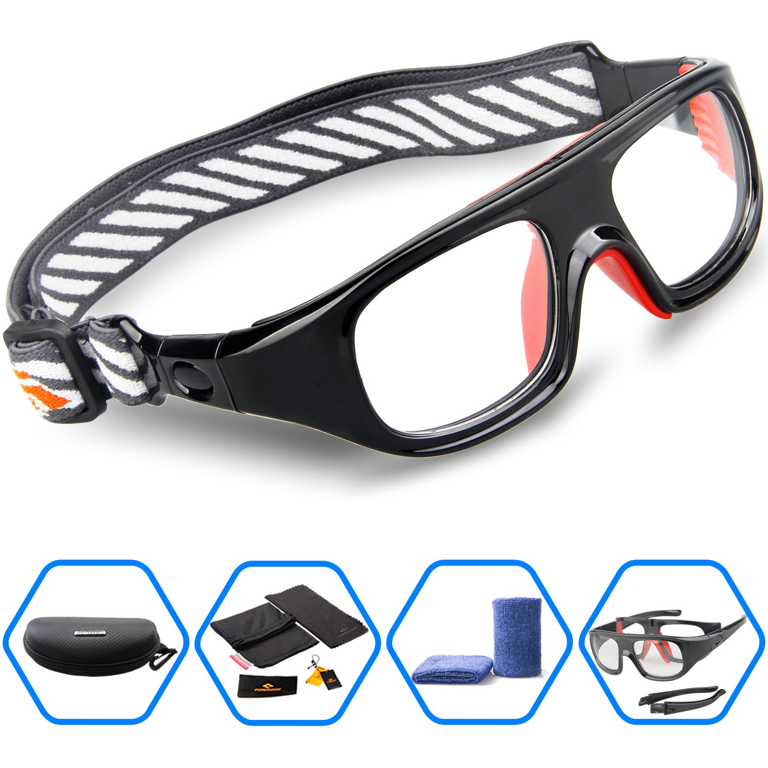 b458567121 Ponosoon Sports Goggles Glasses for Basketball Football Volleyball ...