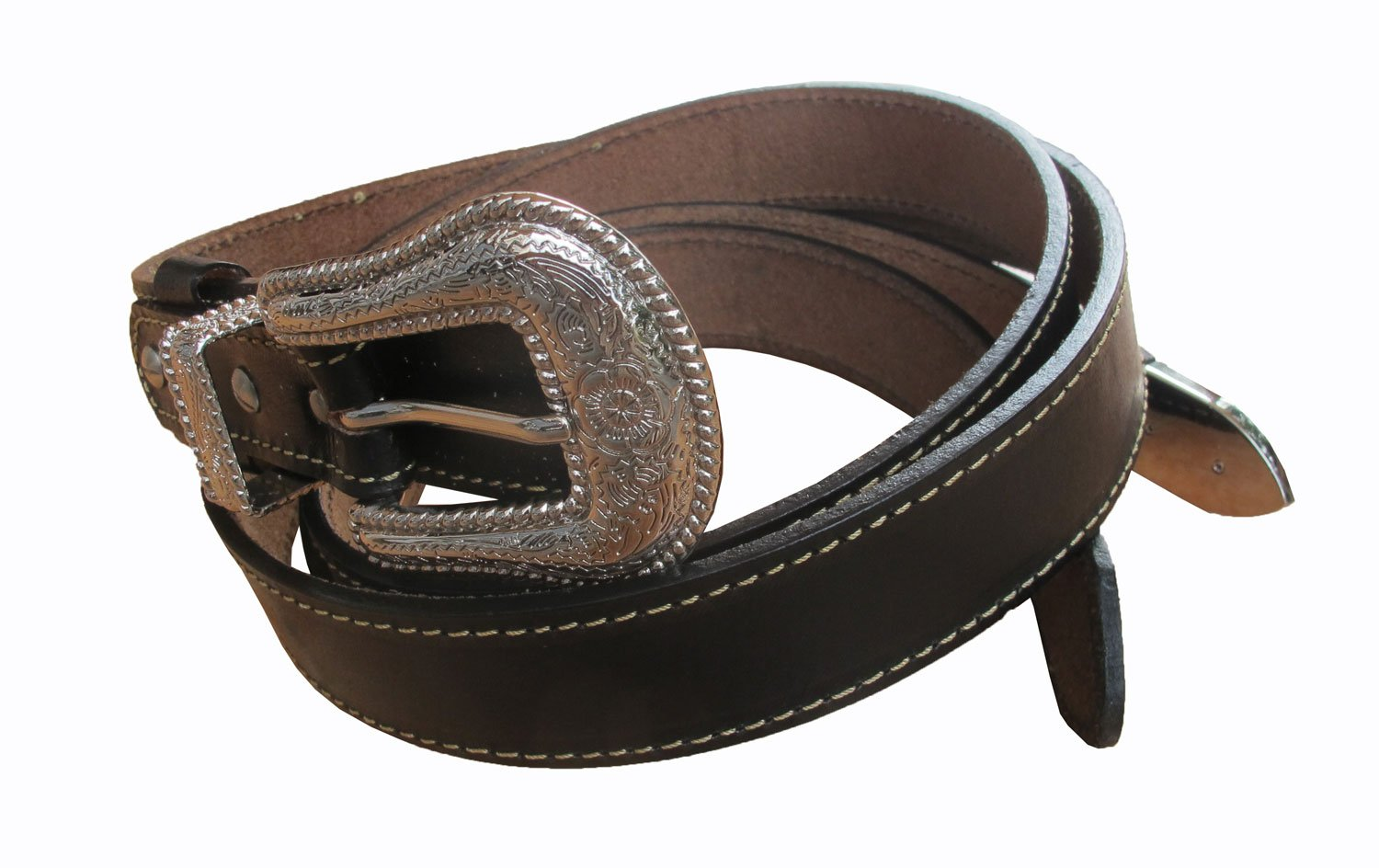 Danai Presents. VERY 6 PCS X NICE BELT @ BUCKLE GENUINE LEATHER SILVER TONE by Thai (Image #2)