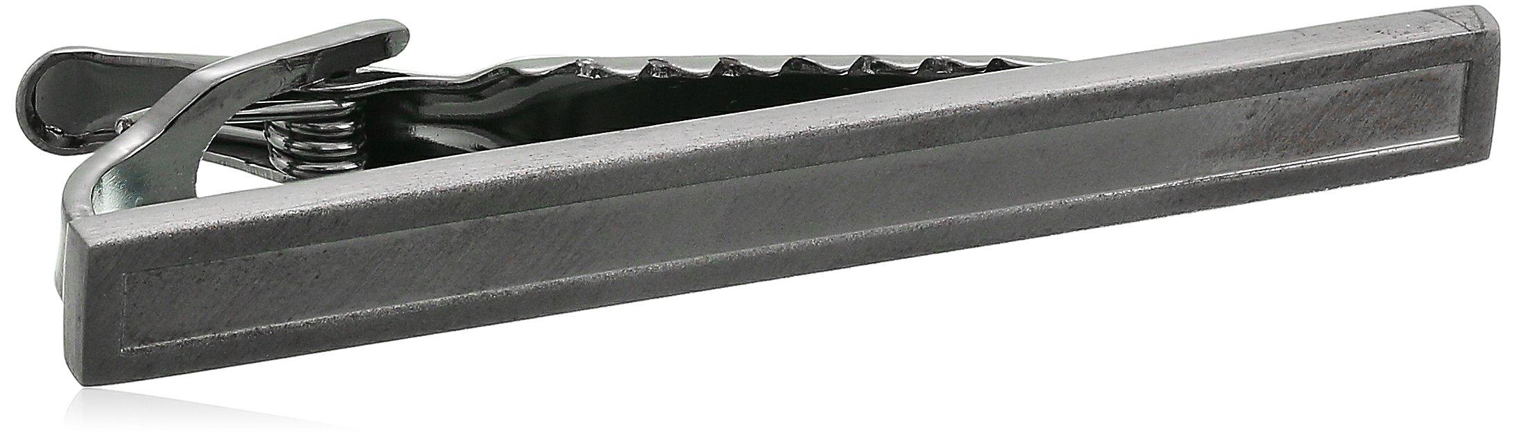 Kenneth Cole REACTION Men's Classic Tie Clip, gunmetal, One Size