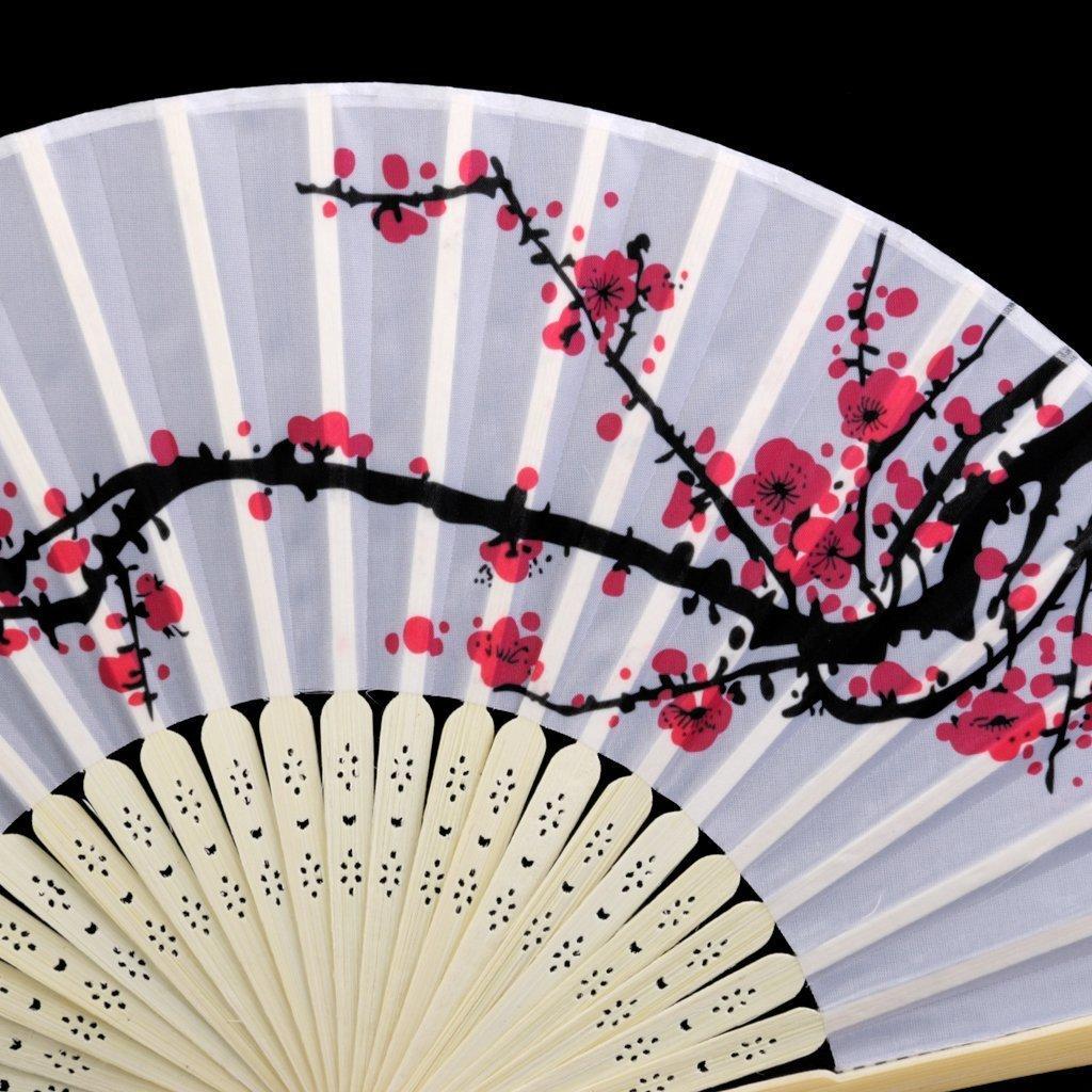 Delicadas favores ventilador plegable de seda flor de cerezo de diseño: Amazon.es: Hogar