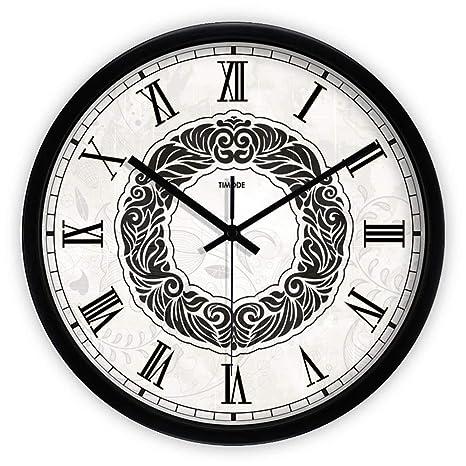 LKOPSLA Globo Creativa Moderna Réplica Reloj silencioso Muro Decorativo Pegatinas Decoración Reloj Reloj de Pared para