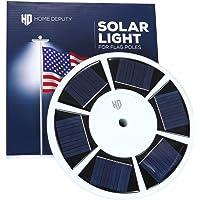 HOME DEPUTY Solar Flag Pole Light - Solar Flag Light - 111 LED - Brightest Outdoor Flagpole Light for Most In-ground…