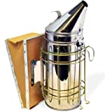 """Bee Hive Smoker 11"""" Stainless Steel with Updated Design and Heat Protection."""