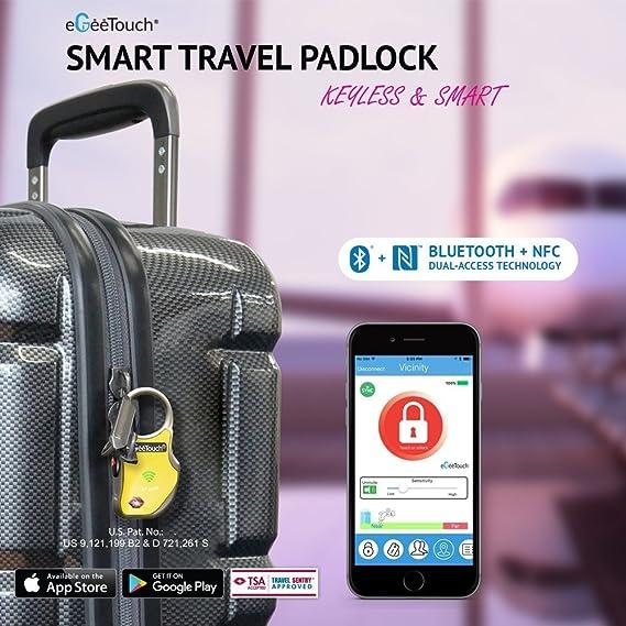 Amazon.com | eGeeTouch Smart TSA Luggage Lock with Patented Dual ...