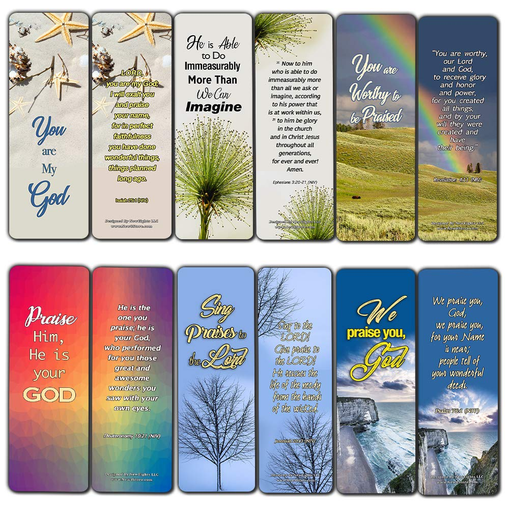 Scriptures Cards - Powerful Scriptures to Help You Worship God (60 Pack) -  Bible Verses About How to Worship God