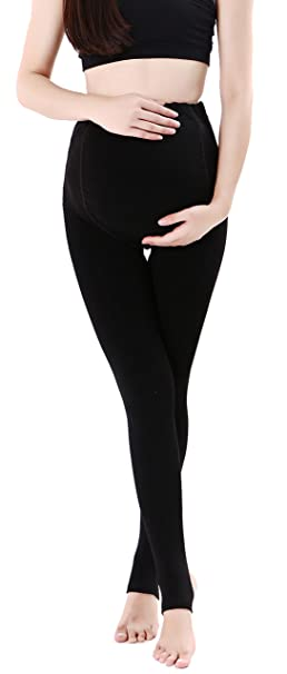 950f1db405c347 Women's Maternity Belly Support Leggings Thick Stretch Maternity Stockings  Pantyhose Solid Pregnant Pants Plus size Black