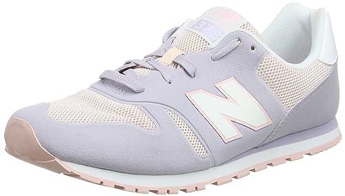 New Balance Ka373v1y, Zapatillas Unisex Bebé, Gris (Grey/Pink), 37 EU