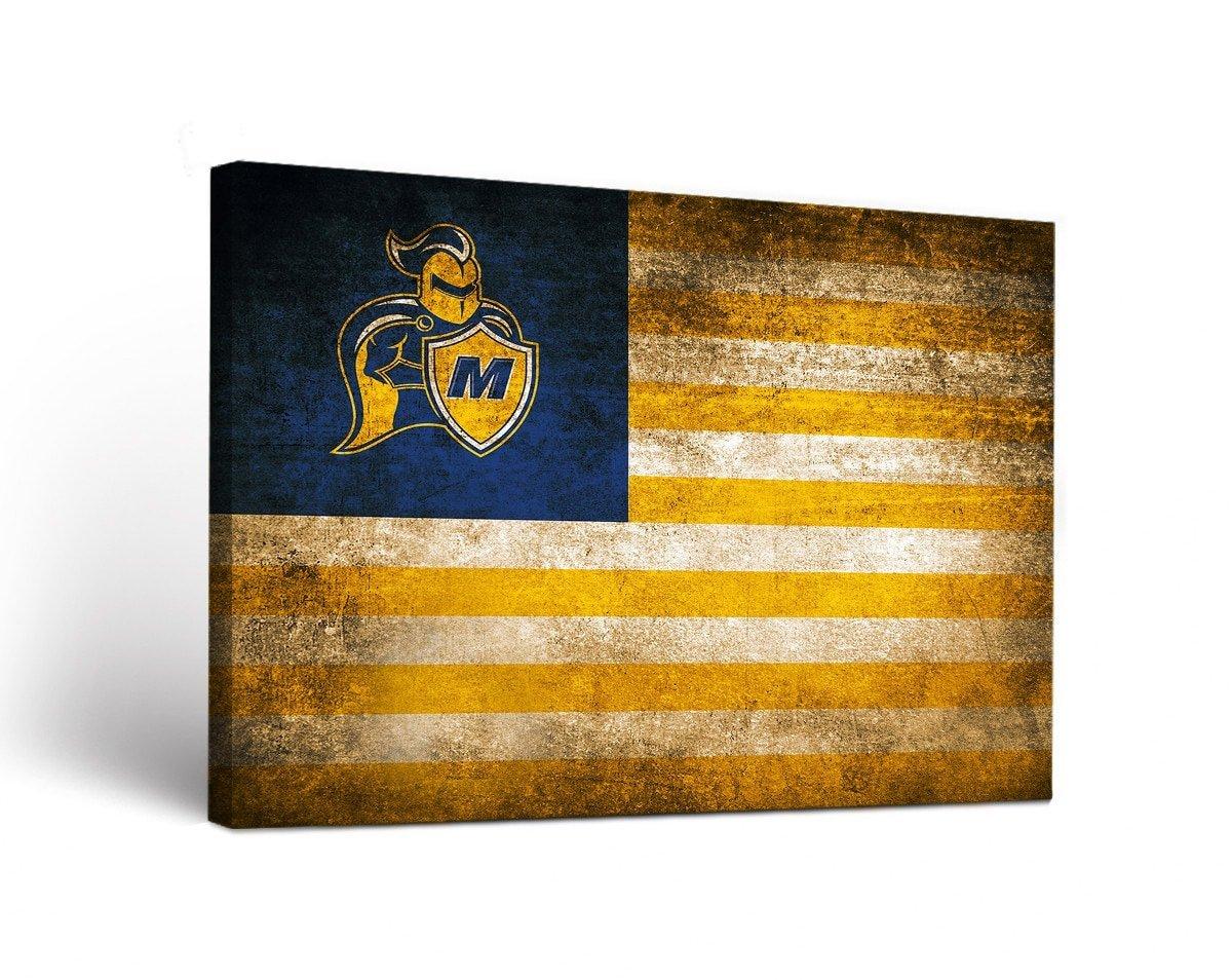 Madonna大学Crusadersキャンバス壁アートヴィンテージ国旗デザイン 18x24  B01IW3SUWQ