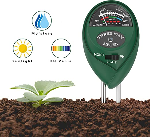 3in1 PH Meter Boden Erde Licht Feuchtigkeit Messgerät Tester Bodentester