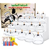 Cupping Therapy Sets,Aikotoo Vacuum Suction 24 Cups Sets for Cellulite Cupping Massage,Chinese Cupping Therapy Pump