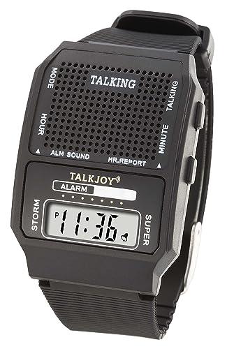 Profesional según Reloj de pulsera parlante con altavoz muñeca reloj reloj para personas mayores Ciegos: Amazon.es: Relojes