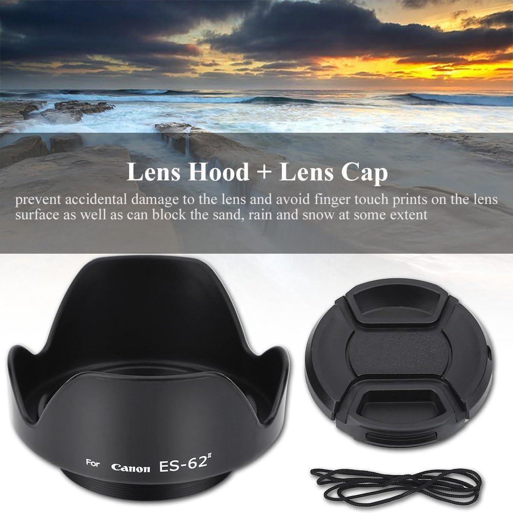 ES-62II Camera DSLR Lens Hood for Canon 50mm f//1.8 II with Lenses Cap Madezz Lens Hood