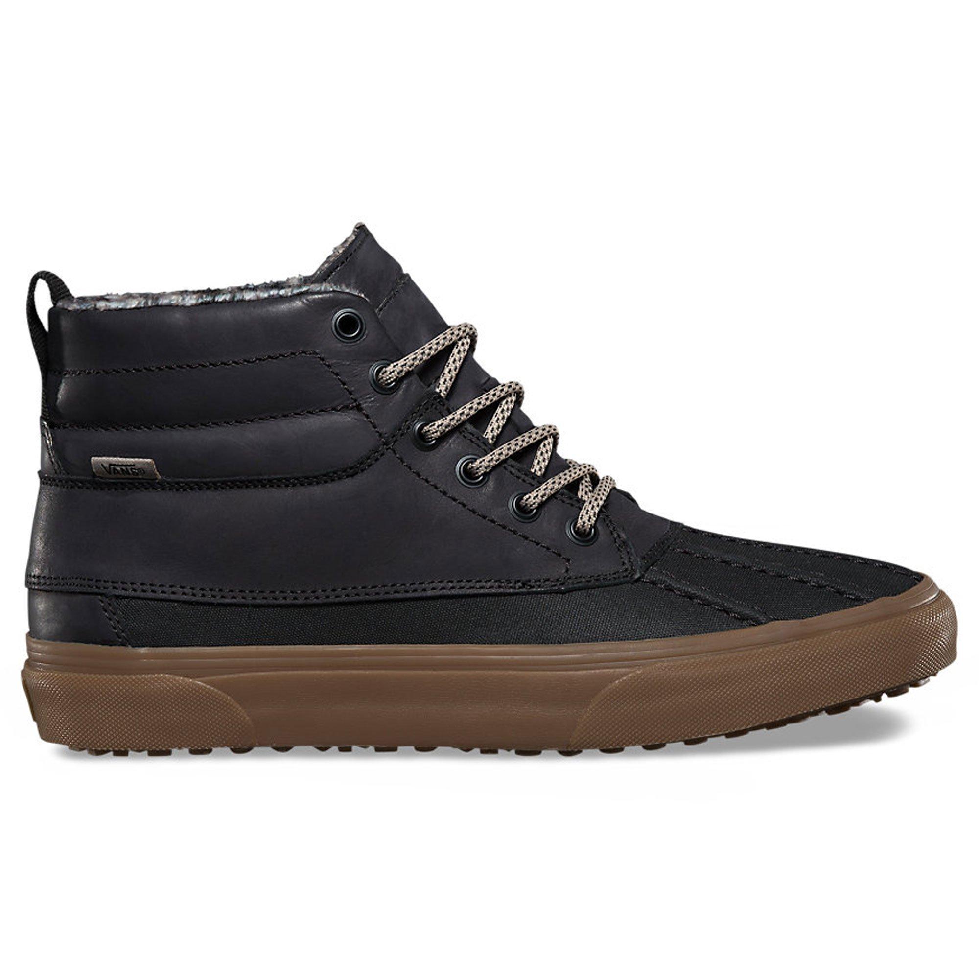 de162e9f3e9 Galleon - Vans Mens SK8-HI Del Pato MTE Sneaker Black Feather Gum Size 10