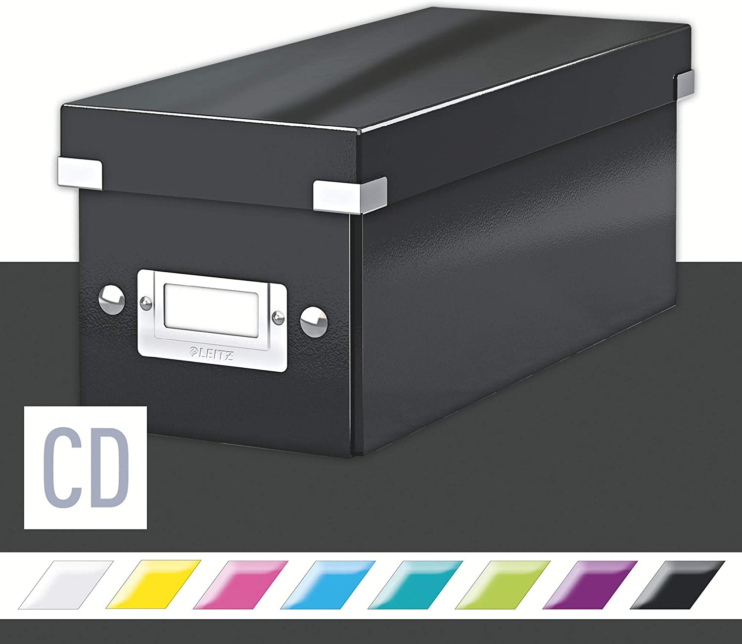 Leitz CD Storage Box, Black, Click and Store Range, 60410095