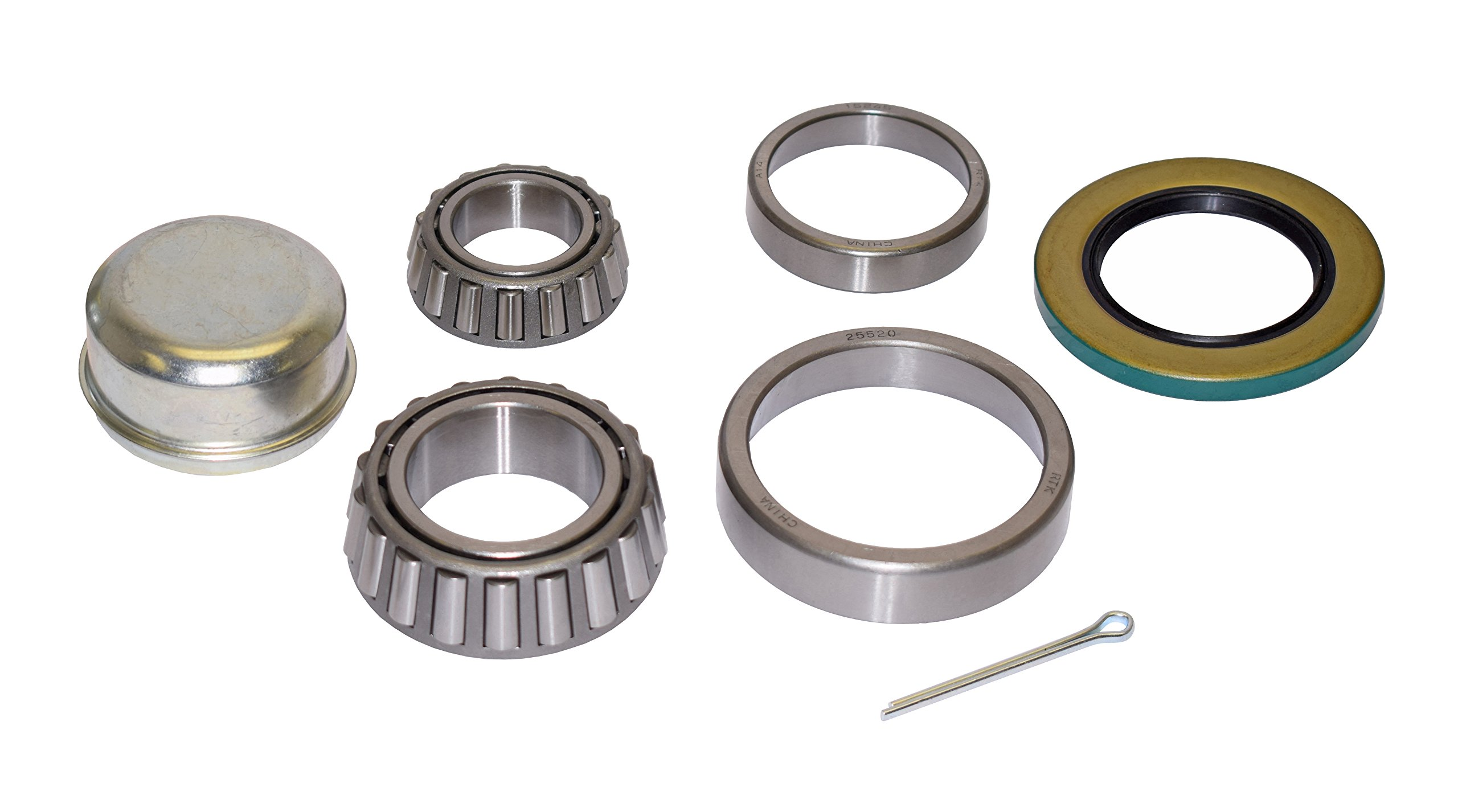 Trailer Bearing Repair Kit (280457) for 1-3/4 Inch to 1-1/4 Inch Tapered Spindle by Rigid Hitch