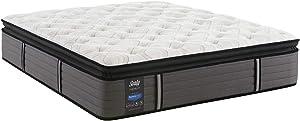 Sealy Response Premium 14-Inch Plush Euro Pillow Top Mattress, Queen, Made in USA,10 Year Warranty