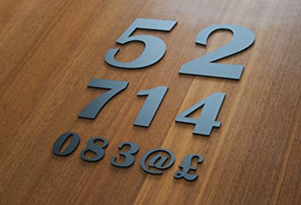 Acrylic Numbers & Symbols Britannic - Home Office Custom