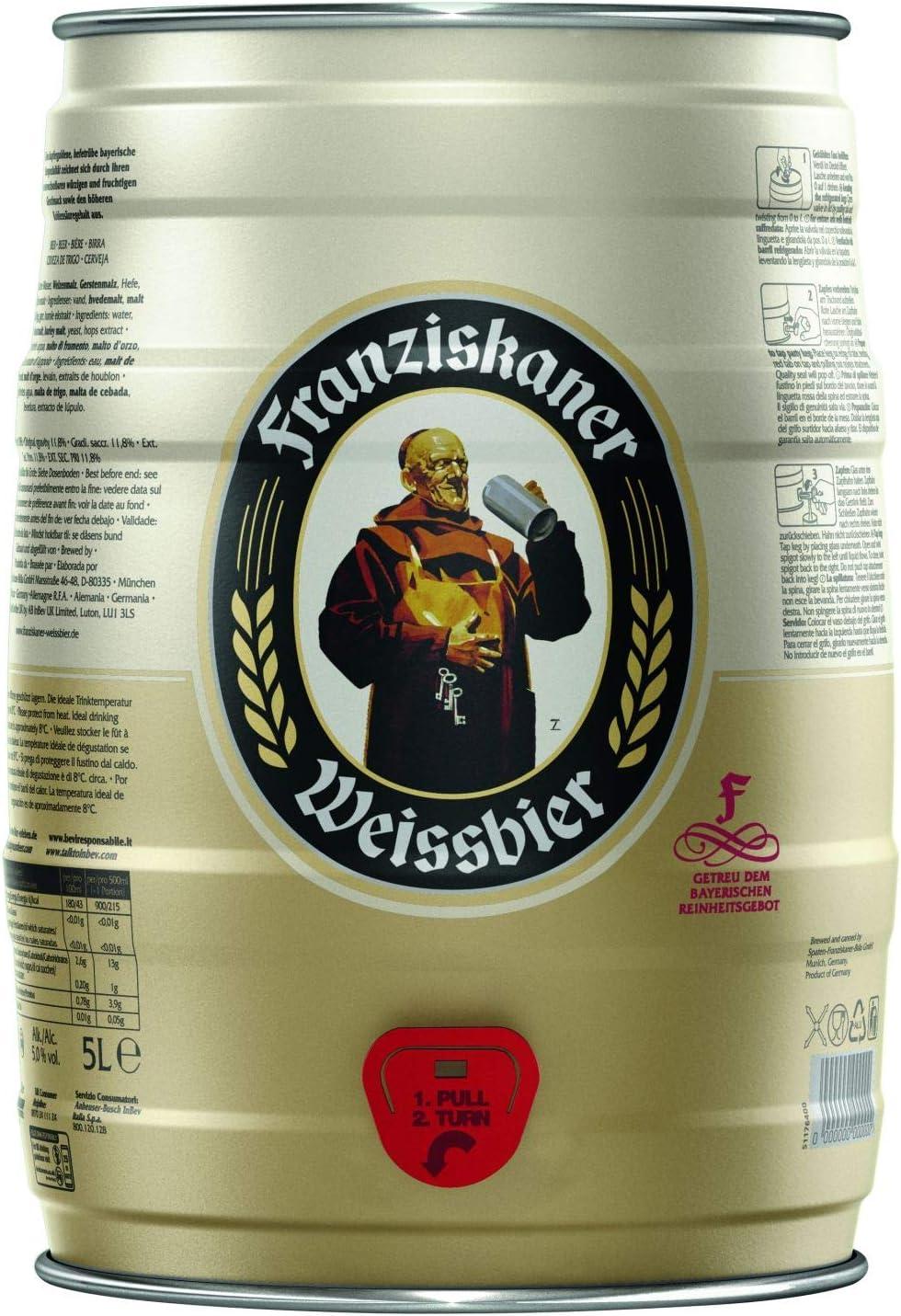 Birra Fusto Franziskaner Hell 5 Litri Amazon It Alimentari E Cura Della Casa