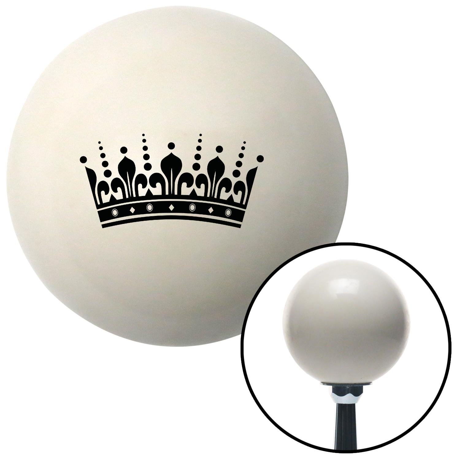American Shifter 31154 Ivory Shift Knob with 16mm x 1.5 Insert Black Queens Crown