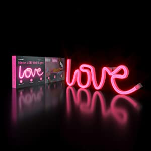 Atomi Smart Neon LED Light I Decorative Wall Art for Bedrooms, Bars & DIY Designs I USB Powered, 10 ft Cord - Pink Love