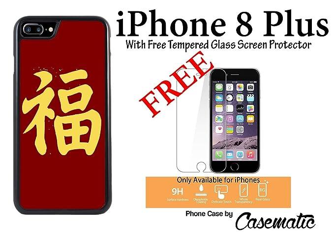 Amazon Iphone 8 Plus Case Chinese Luck Symbol Plastic Black