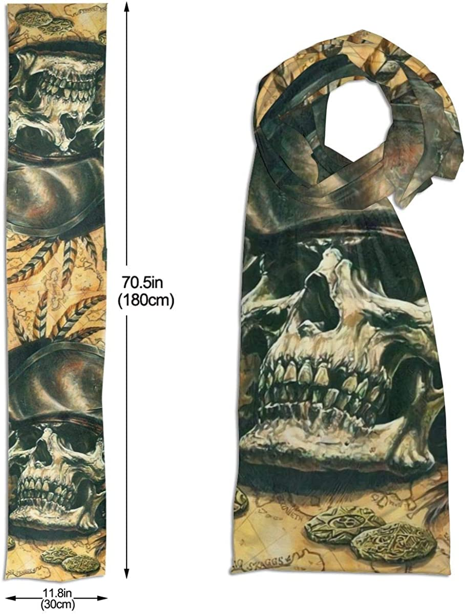 Skull Pirate Hat Captain Beer Unisex Long Scarf Knit Fashion Scarves Warm Winter Neck Gaiters Scarf For Men Women