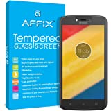 Affix Tempered Glass Screen Guard Protector with Cleaning and Application Kit for Moto C Plus (5Inch, Transparent)