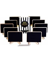 mini chalkboards place cards with easel stand