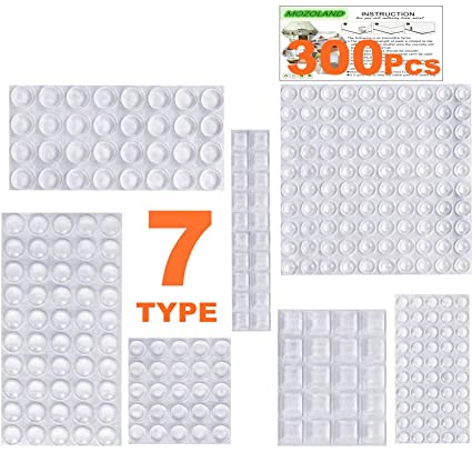 cef7f1d6b03 Clear Rubber Feet Bumpers Pads 300 Pieces Self Adhesive Transparent Stick  Bumper Noise Dampening Buffer Bumpers