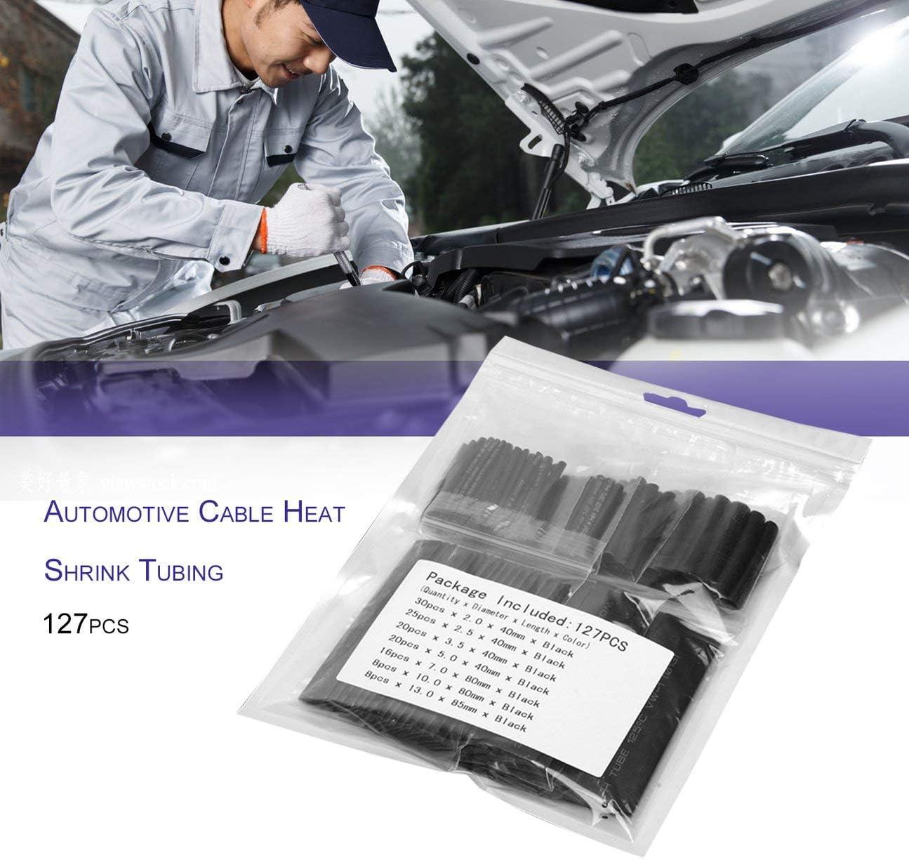 gaine denveloppe de tube ignifuge kit assorti protection de lenvironnement 127pcs gaine thermor/étractable de c/âble /électrique pour voiture