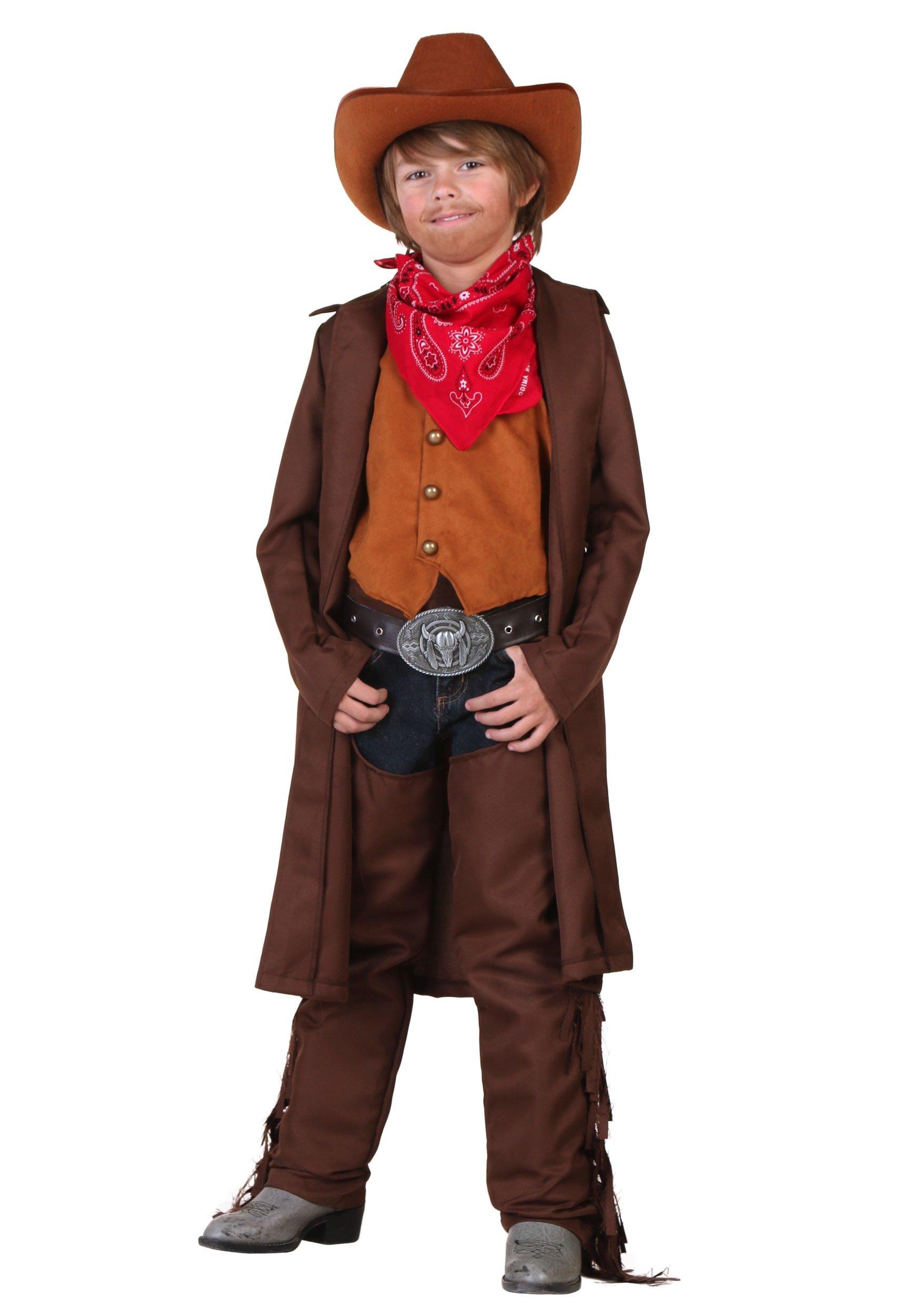 Big Boys' Cowboy Costume - S