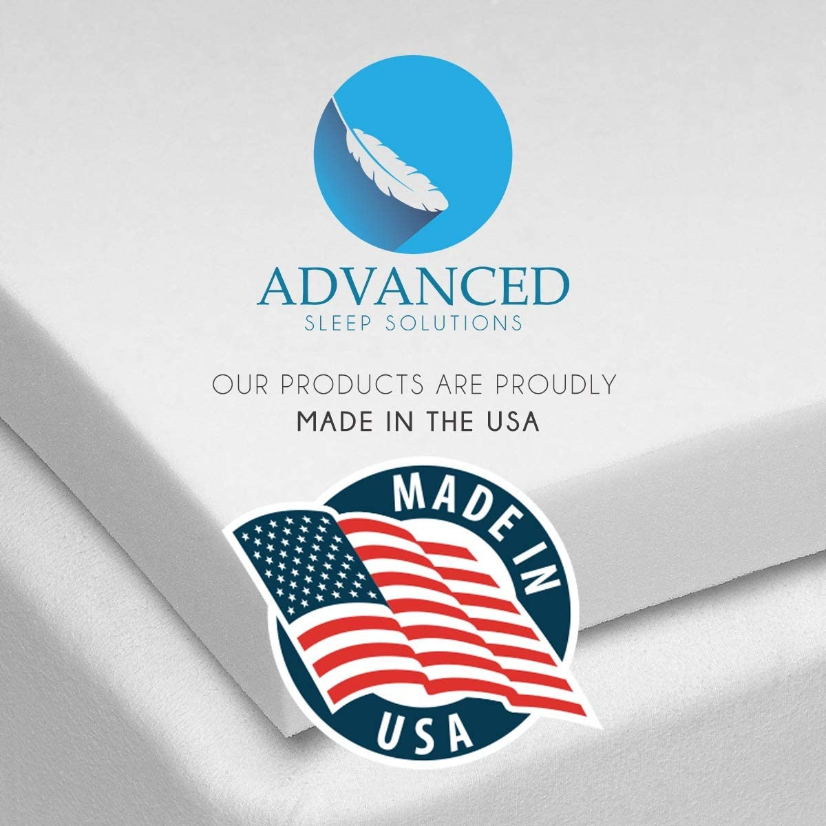 3 Inch Memory Foam Mattress Topper Twin, CertiPur-US Approved Twin Size Memory Foam Mattress Topper, Comfortable, Medium Soft Mattress Toppers for Twin Bed, Made in The USA – 3 Year Warranty