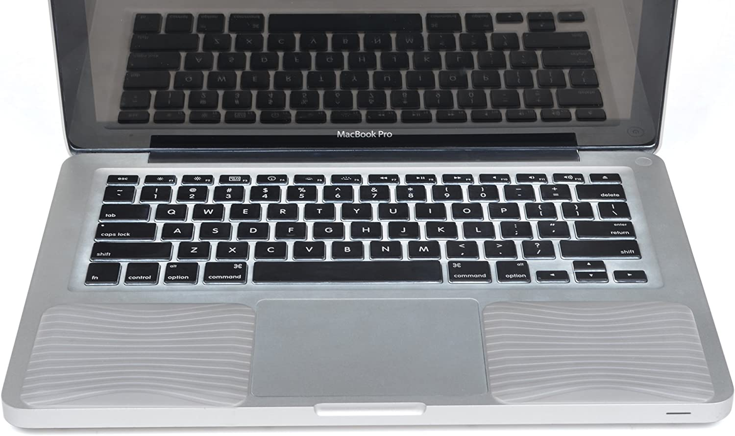 """Cosmos Silicone Palm Wrist Rest Pads Set for Old MacBook Pro 13"""" / MacBook Air 13"""" Laptop Computer (Silver)"""