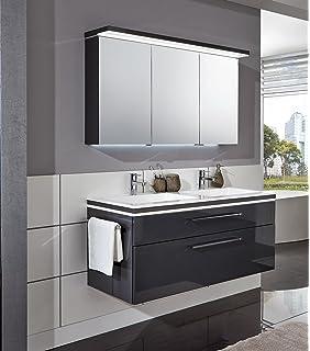 Doppelwaschtisch mit unterschrank und spiegelschrank  Puris Crescendo Badmöbel Set / Waschtisch / Unterschrank / 2D ...