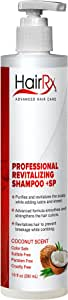 HairRx Professional Revitalizing Shampoo +SP (for Oily Scalps) with Pump, Luxurious Lather, Coconut Scent, 10 Ounce