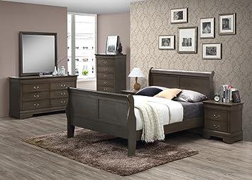 Quarz 6 Stück massivem Holz Schlafzimmer Set mit Schlitten ...