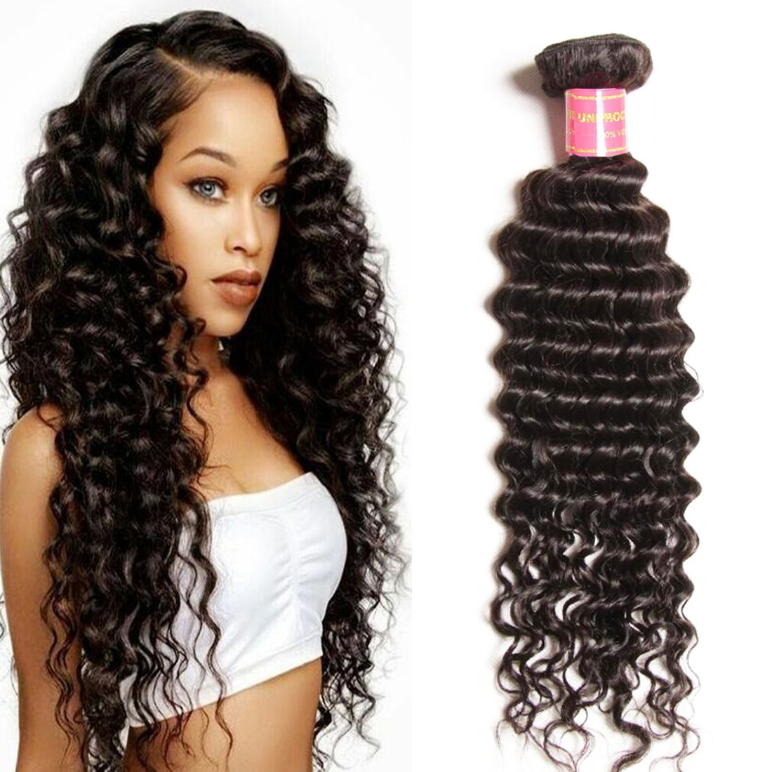 Amazon Brazilian Deep Wave Lace Closure 100 Virgin Human Hair