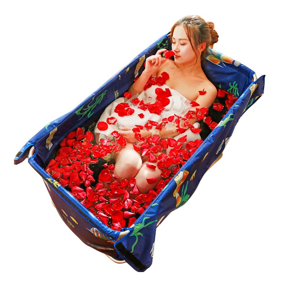 Bathtub PHTW HTZ Faltende Bad-Erwachsene Bad-dickere Säuglinge Und Junge Kinder-Swimmingpool (105cm * 56cm * 52cm) + (Farbe : Purple)