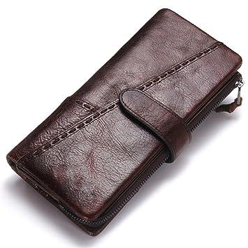 Monedero de bolsillo para hombre Billetera retra de la hebilla del empalme de la cremallera del ...