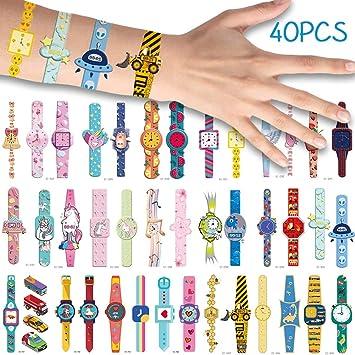 Bibivisa 40x Relojes de Pulsera Tatuajes Temporales para ...
