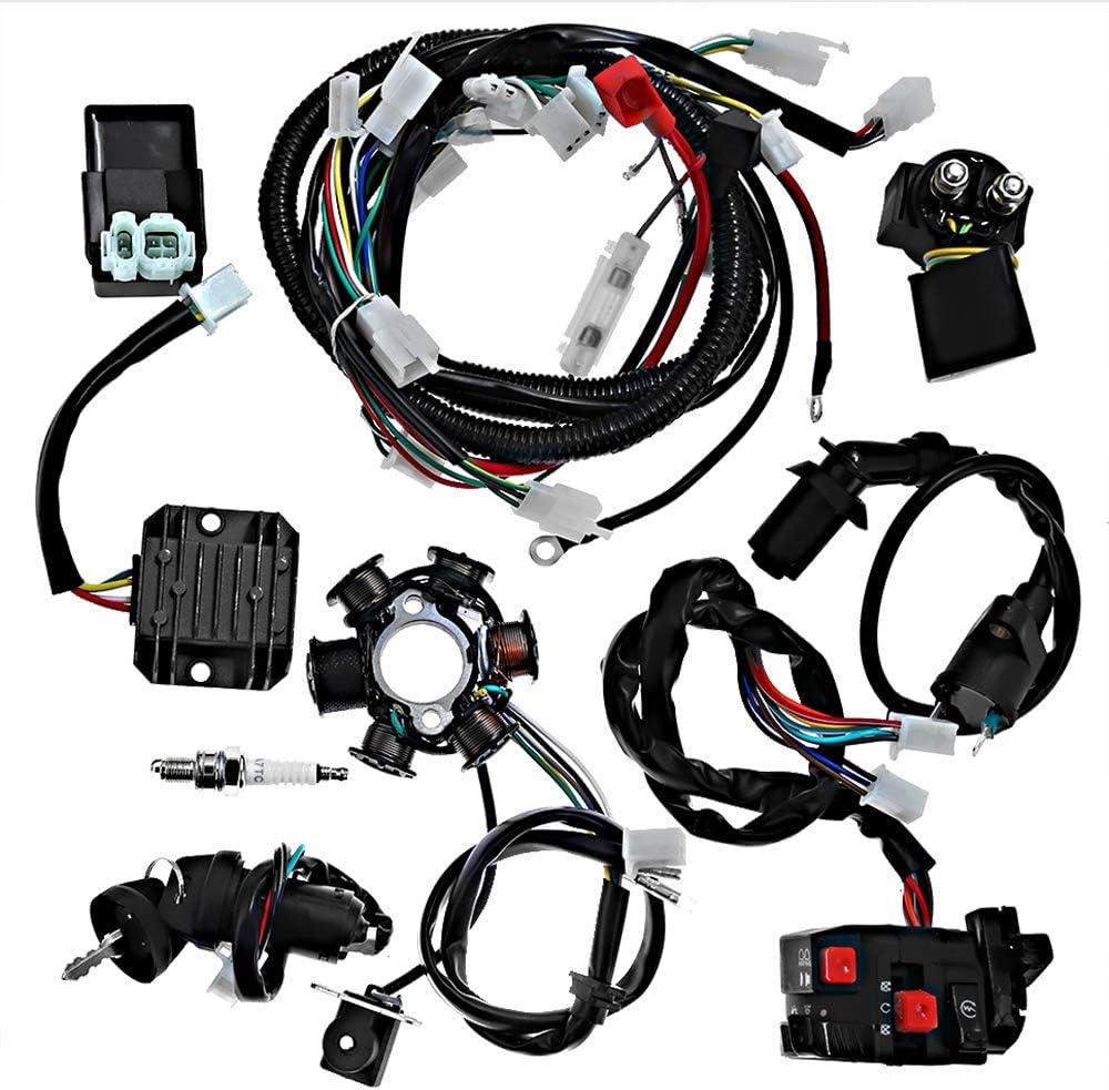 amazon.com: electrics wiring harness loom kit cdi magneto stator for gy6  125cc 150cc atv quad go kart: automotive  amazon.com