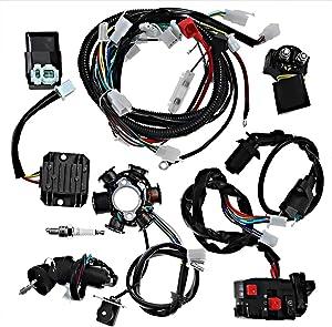 Electrics Wiring Harness Loom Kit CDI Magneto Stator for GY6 125cc 150cc ATV Quad GO Kart