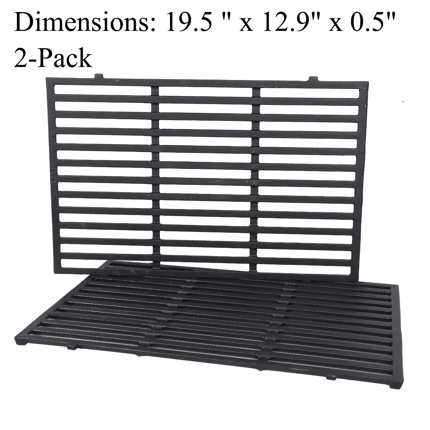GGC Grill Grates Replacement for Weber 7524, Weber Genesis E-310, E-320, E-330, S-310, S-320, S330, ESP-310, ESP-320 and Others, 2-Pack Porcelain-Enameled Cast-Iron Cooking Grid(19.5'' x12.9'' x0.5'') by GGC