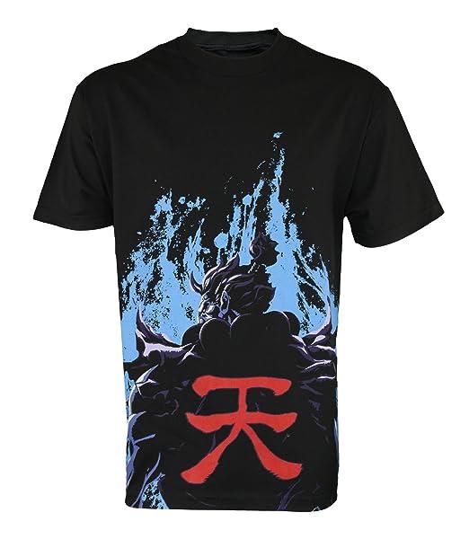 Amazon Capcom Street Fighter Akuma Flames Men T Shirt Black