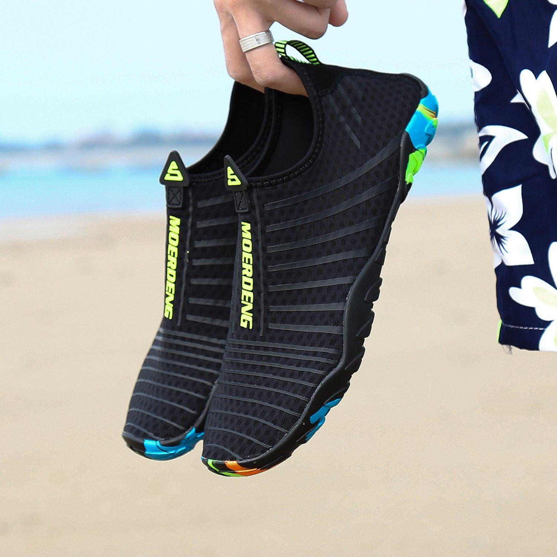 MOERDENG Men Women Water Shoes Quick Dry Barefoot Aqua Socks Swim Shoes for Pool Beach Walking Running