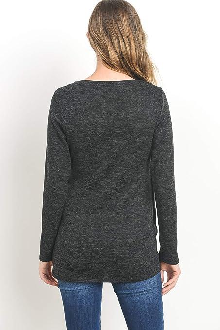 d6143cc44ad9 Hello MIZ Women s Maternity Sweater Nursing Top - Made in USA at ...